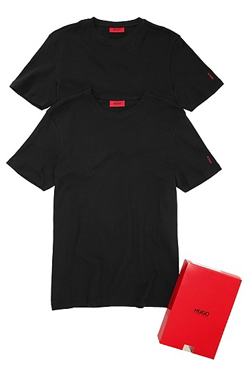 Pack of 2 T-shirts 'Double-Round', Black