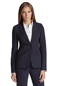 Taillierter Blazer ´Juicy6` aus Schurwoll-Mix