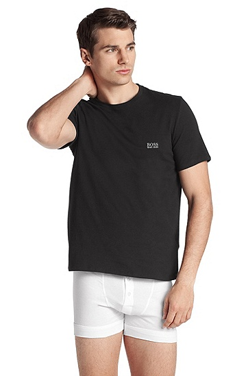 Blended cotton T-shirt 'Shirt RN SS BM', Black