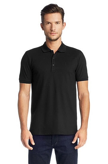 Baby piqué polo shirt 'Nono', Black