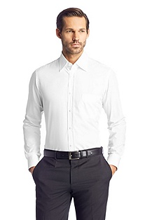 Plain dress shirt with a Kent collar 'Elton'
