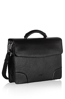 Leather briefcase 'Lamin'