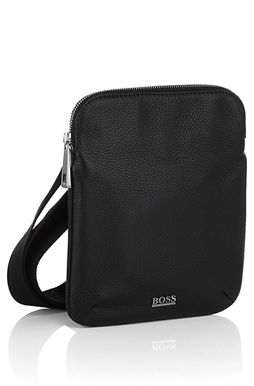 Elegant leather bag ´BUSSOLO`, Black