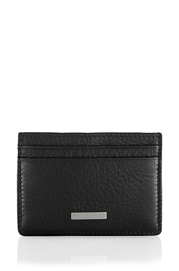 Leather card holder 'Baz', Black
