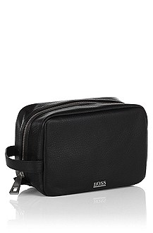 High quality, leather wash-bag ´Bombo`