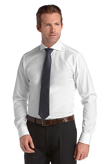 Business shirt with shark collar ´Christo`, White