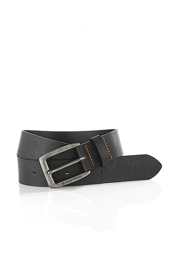 Leather belt 'JIMM', Black