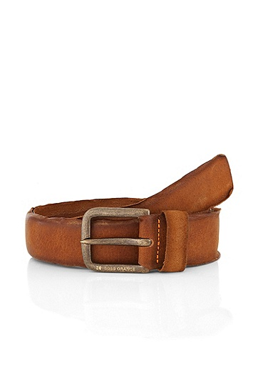 Pin buckle belt 'BIBOL', Brown