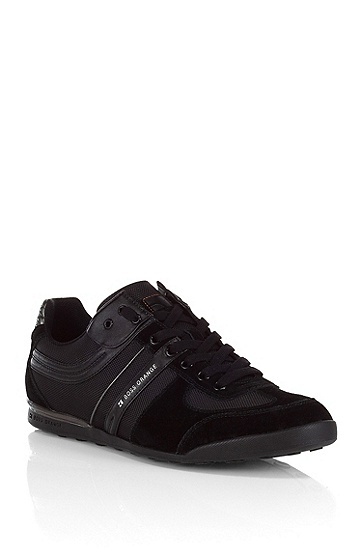 Suede and nylon sneaker 'KEELO', Black
