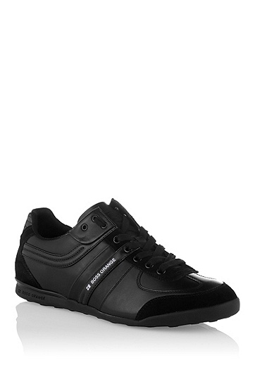 Designer sneaker in mixed materials 'KIKKO', Black