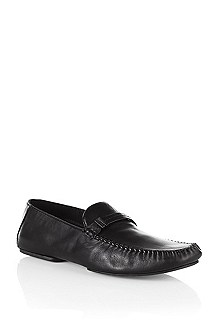 Calfskin leather moccasin slipper 'ROS'