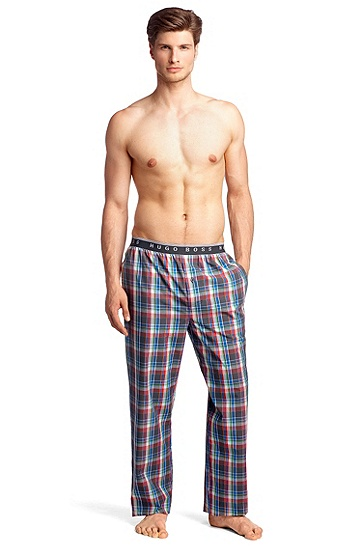 Vichy check pyjama bottoms 'Long Pant EW BM', Open Grey