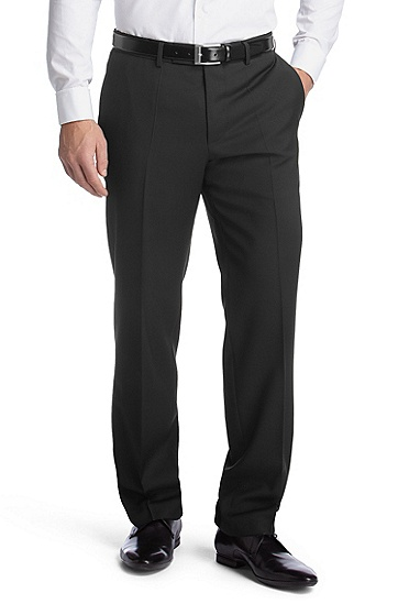 Business trousers in shorn wool ´Movis', Black