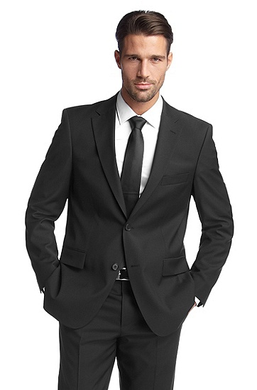 Business jacket in shorn wool 'Pacini', Black