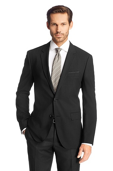 Business jacket in pure new wool 'The Rider', Black