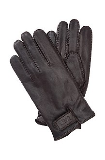 Goatskin leather gloves with wool 'Kranto'