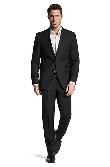 New wool suit 'The James3/Sharp5', Black