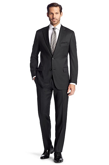 New wool business suit 'Pasini2/Movie2', Dark Grey