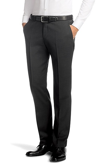 Pure new wool suit trousers 'Sharp5', Dark Grey