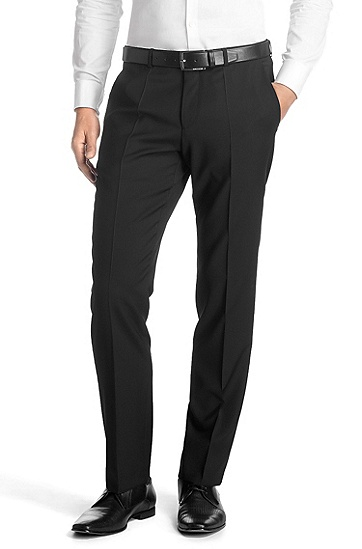 Suit trousers made of pure new wool 'Sharp5', Black