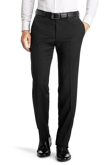 Pressed pleat trousers 'Parker 3', Black