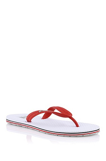 Genuine rubber thong sandal 'HAWWI', Open White