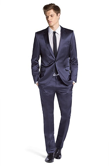 Fashion suit with notch lapel ´Aiko1/Heise`, Dark Grey