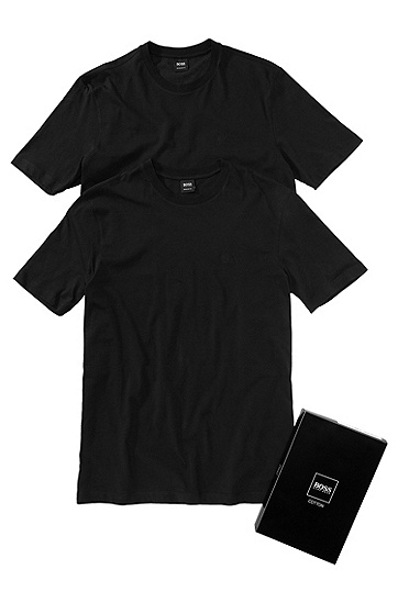 Pack of 2 cotton T-shirts 'Twins 01', Black