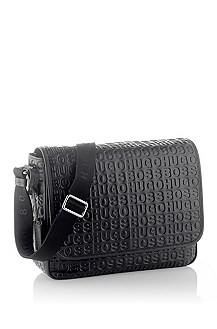 Sac messager en cuir de vachette brillant, SAMMI