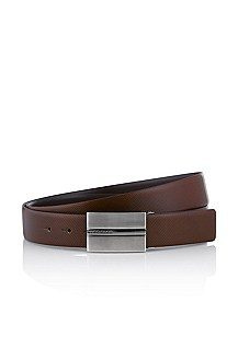 Reversible belt in cowhide leather 'OLIAS'