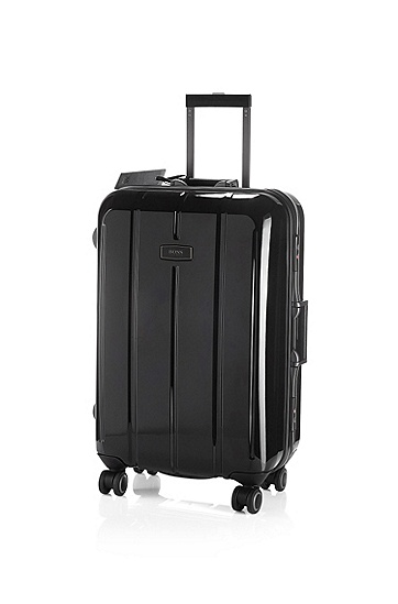 4-wheel, hard case trolley 'Perseus', Black