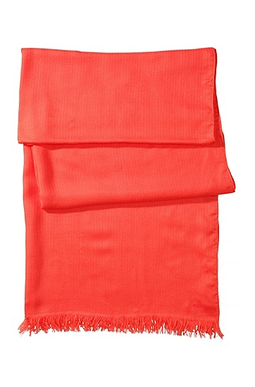Plain coloured scarf from HUGO ´Women-Z 332`, Red