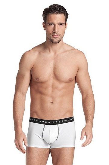 Boxer shorts with a logo waistband 'Boxer BM', White
