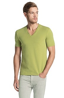 Modern cotton blend V-neck T-shirt ´Dredoso`