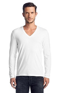 Long-sleeved V-neck T-shirt 'Dredino'