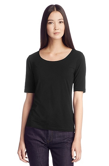Sweatshirt in soft jersey 'Salvor', Black