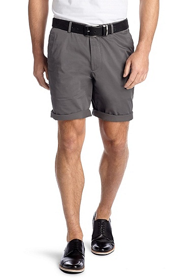Regular-Fit Shorts ´Clyde1-W modern essential`, Hellgrau