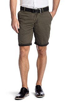 Regular fit cotton Bermudas 'Clyde1-9-D'