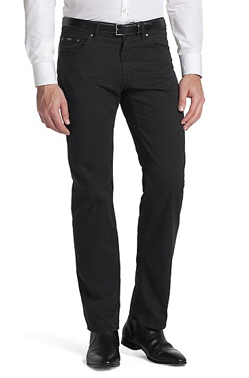Cotton trousers ´Maine-10`, Black
