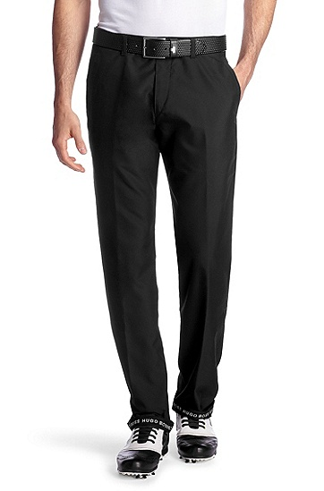 Golf trousers with Nano finishing 'Haddys Pro 5', Black
