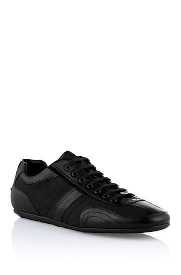 Leather-textile sneaker 'Thatoz', Black