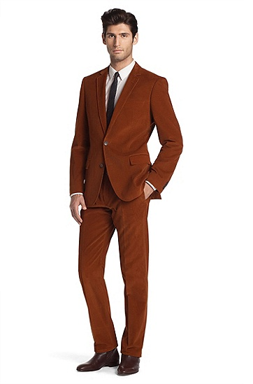 Corduroy suit 'Aiko1/Heise', Brown