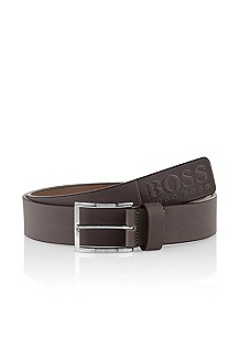 Belt with a shiny pin buckle 'Tincenzo-N'