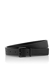 Belt with metal pin buckle ´Superblack`