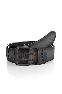 Leather belt with rectangular buckle 'Jiwani'