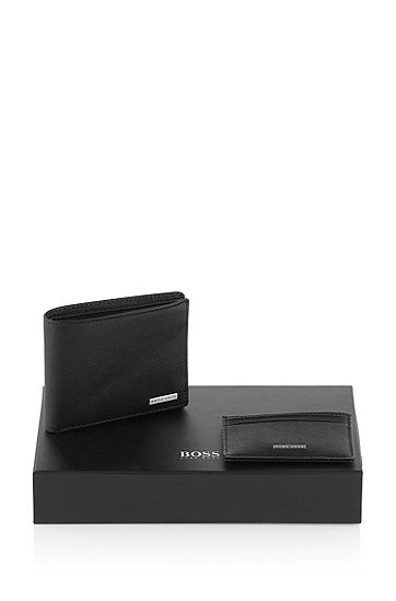 Gift set with a card holder 'Gimini', Black