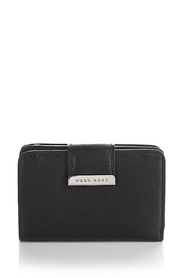 Leather wallet 'Malenia', Black