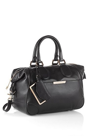 Calf leather handbag 'Malindi-L', Black