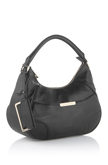 Leather shoulder bag 'Meggy-L', Black