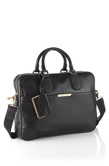 Leather work bag 'Malange-L', Black